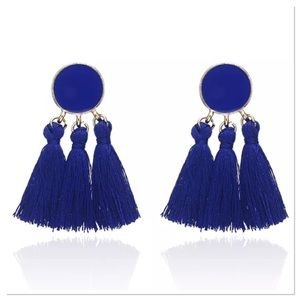 Jewelry - Blue Tassel Earrings